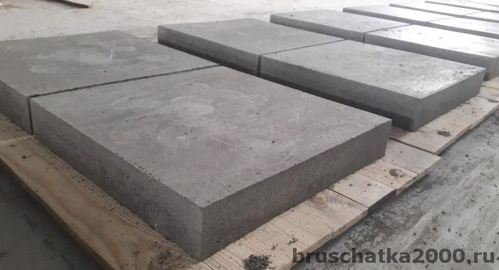 Бетонная тротуарная плитка ГОСТ - основные характеристики
