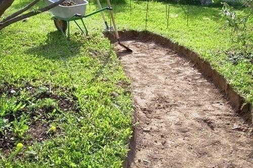 Инструкция по укладки садовых дорожек, выемка грунта