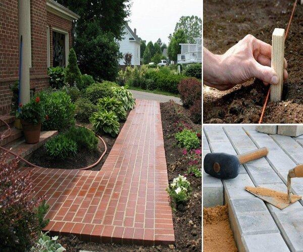 Инструкция по укладки садовых дорожек из тротуарной плитки