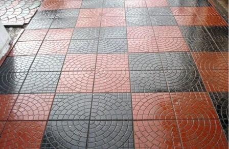 Квадратная тротуарная плитка производство