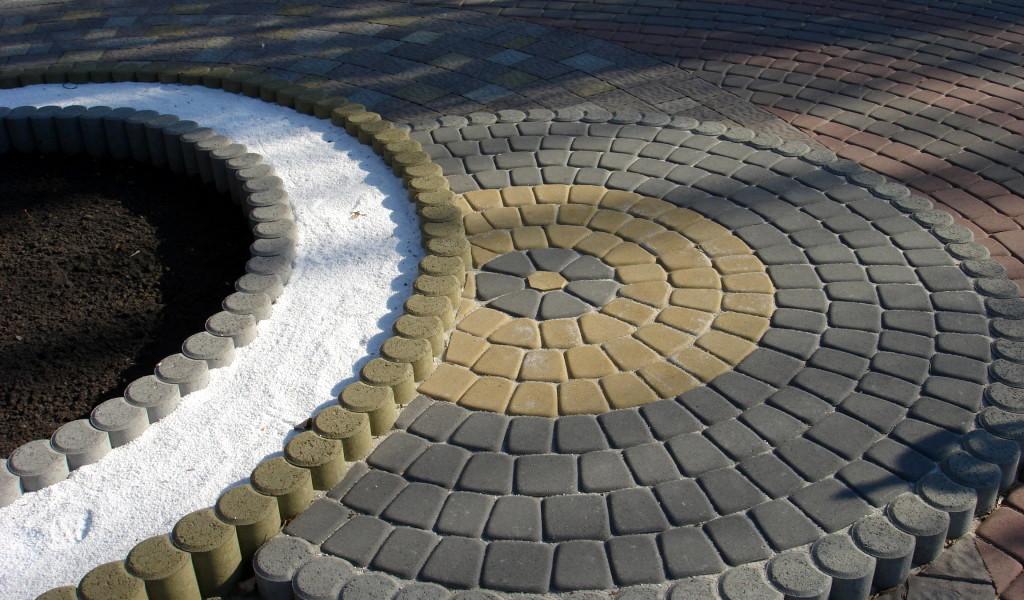 Схемы укладки плитки круг