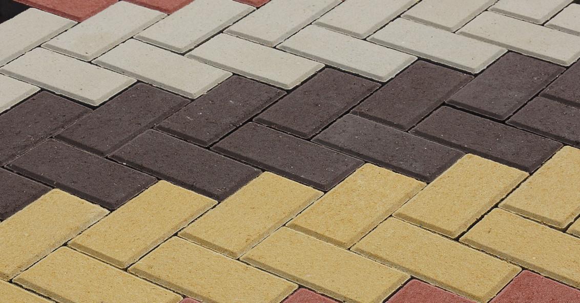 Схема укладки тротуарной плитки ёлочка