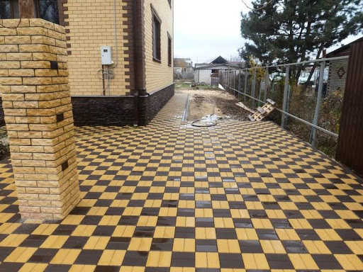 Схема укладки тротуарной плитки шахматная доска