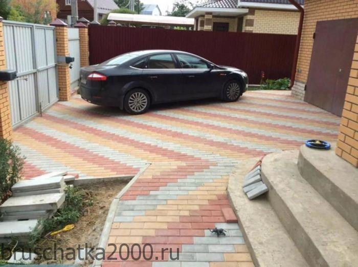 Необходимые материалы для укладки тротуарной плитки под автомобиль